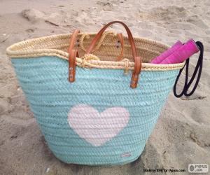 Tasche für den Strand puzzle