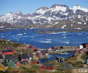 Tasiilaq, Grönland puzzle