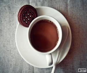 Tasse heiße Schokolade puzzle