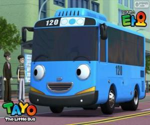 TAYO fröhliche und optimistisch blauen bus puzzle