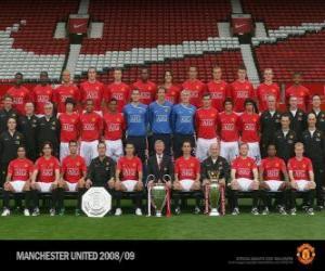 Team von Manchester United F.C. 2008-09 puzzle