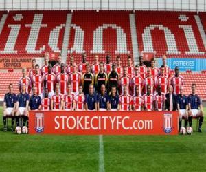 Team von Stoke City F.C. 2008-09 puzzle