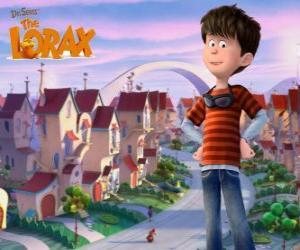Ted Wiggins, eine idealistische junge von 12 Jahren, die Hauptfigur des Films Lorax puzzle
