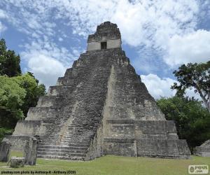 Tempel I, Tikal, Guatemala puzzle