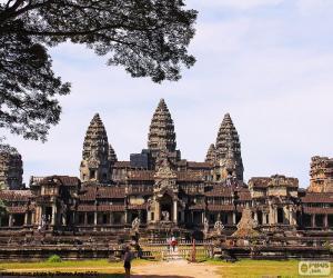 Tempel von Angkor Wat, Kambodscha puzzle