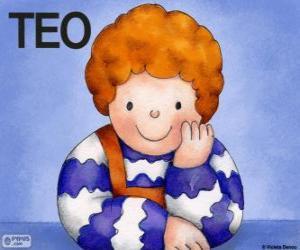 Teo, ein Charakter der in Violeta Denou Kinder Bücher Leben puzzle