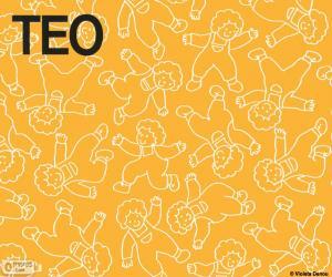 Teo in verschiedenen Positionen puzzle