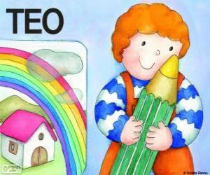 Teo und Farben puzzle