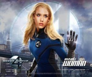 The Invisible Woman und Invisible Girl in Fantastic Four puzzle