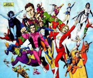 The Legion of Super-Heroes ist ein Superheld Team Comic-Bücher gehören zum Universum Zugehörigkeit zur redaktionellen DC. puzzle