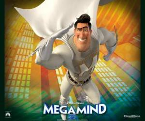 The superhero Metro Man is the rival of the supervillain Megamind puzzle