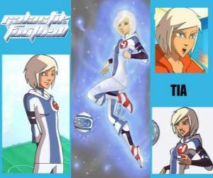 Tia ist der Spieler Nummer 4 der Snow Kids Team, ist die einzige Mannschaft, die zunächst den Geist puzzle