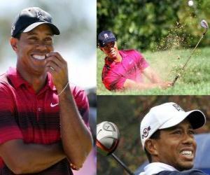 Tiger Woods ist ein US-amerikanischer Golfer. puzzle