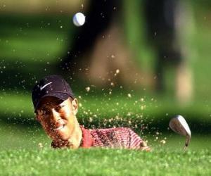 Tiger Woods schläge vom bunker puzzle