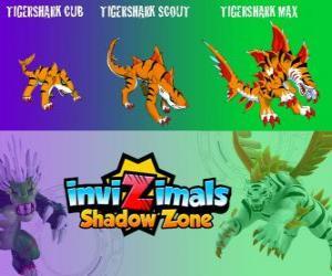 Tigershark Cub, Tigershark Scout, Tigershark Max. Invizimals Schattenzone. Warriors of legend in Indien und Sri Lanka puzzle