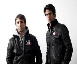 Timo Glock und Lucas di Grassi, Piloten der Scuderia Virgin Racing puzzle