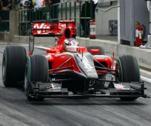 Timo Glock - Virgin - 2010 Grand Prix von Ungarn puzzle