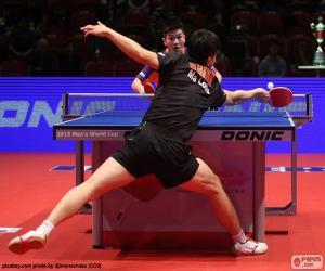 Tischtennis oder ping-pong gleiches puzzle