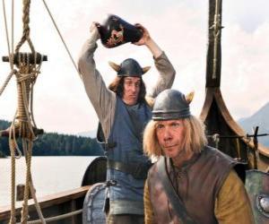 Tjure zu brechen eine Vase auf den Kopf von Snorre puzzle