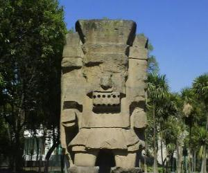 Tlatoc, dem Gott der regen und der Fruchtbarkeit, ist in der Kultur der Teootihuacan verwurzelt puzzle