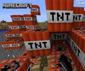 TNT explosive Block von Minecraft puzzle