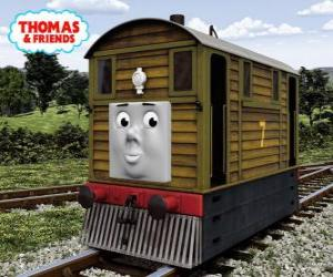 Toby ist die braune Straßenbahnlok mit der Nummer 7 puzzle
