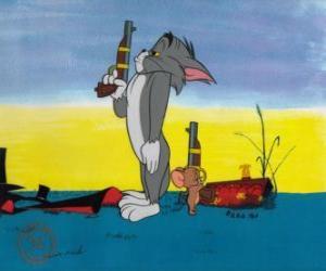 Tom und Jerry im Duell puzzle