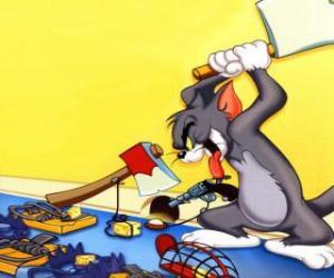 Tom versucht, die Maus Jerry zu fangen puzzle