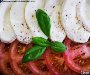 Tomaten und mozzarella puzzle