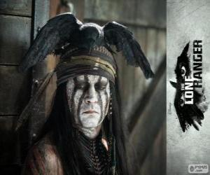 Tonto (Johnny Deep) in dem Film Lone Ranger puzzle