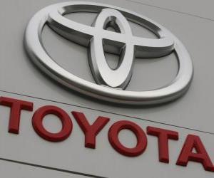 Toyota-Logo. Japanische Autohersteller puzzle