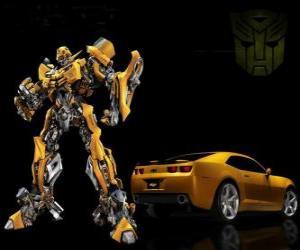 Transformers, das Auto und der Roboter, in dem es verwandelt puzzle