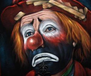 Traurig Clown-Gesicht puzzle