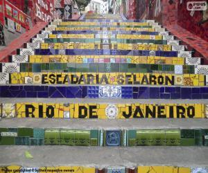 Treppe von Selarén, Brasilien puzzle