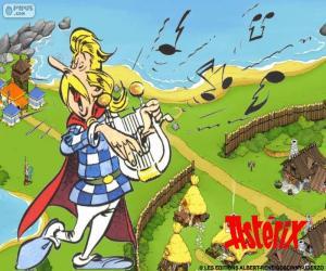 Troubadix singt puzzle