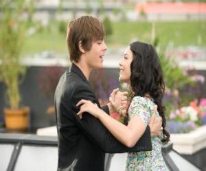 Troy Bolton (Zac Efron) tanzen mit Gabriella Montez (Vanessa Hudgens) puzzle