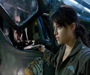 Trudy Chacon, ein Marine Corps Pilot, der ein Renegat wird. puzzle