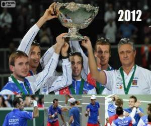 Tschechien, Meister der Copa Davis 2012 puzzle