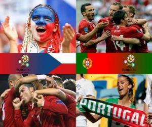 Tschechien - Portugal, Viertelfinale, Euro 2012 puzzle