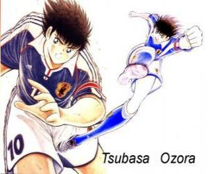 Tsubasa Ozora ist Captain Tsubasa, der Kapitän der japanischen Fußballnationalmannschaft puzzle