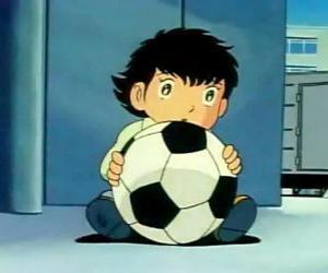 Tsubasa Ozora, Oliver Hutton, ein japanisches Kind, dass ein großer Fußball-Fan ist puzzle