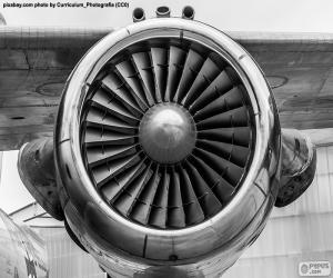 Turbine Flugzeug puzzle