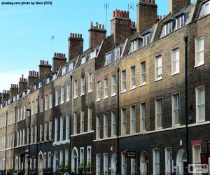 Typische Häuser von London puzzle