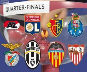 UEFA Europa League 2013-14 im Viertelfinale puzzle