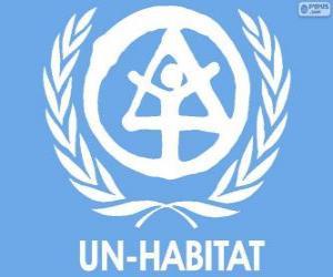 UN-HABITAT-Logo, Programm der Vereinten Nationen für menschliche Siedlungen puzzle