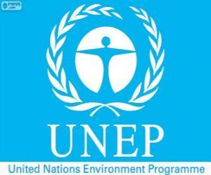 UNEP-Logo, Umweltprogramm der Vereinten Nationen puzzle