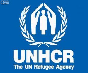 UNHCR-Logo, Hoher Flüchtlingskommissar der Vereinten Nationen puzzle