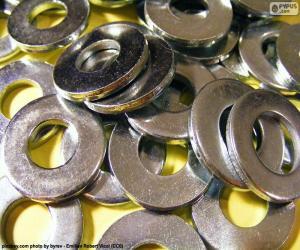 Unterlegscheiben metall puzzle