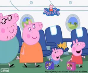 Urlaub Familie Peppa Pig puzzle