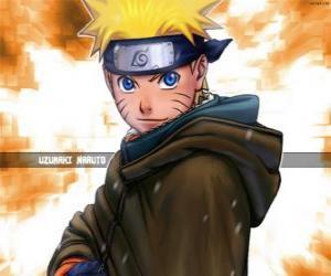 Uzumaki Naruto ist der Held von den Abenteuern eines jungen Ninja puzzle